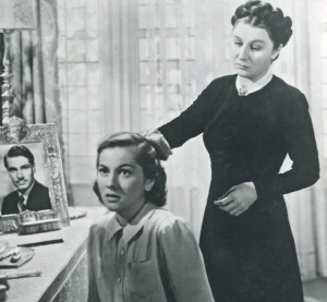 Joan Fontain and Judith Anderson